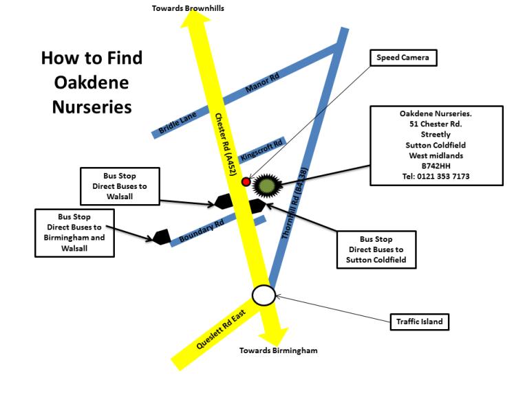 Oakdene Map